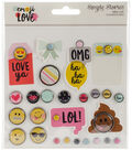 Emoji Love Metal Brads & Tags