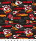 Kansas City Chiefs Cotton Fabric-Retro