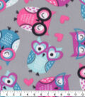 Blizzard Fleece Fabric-Smart Owl