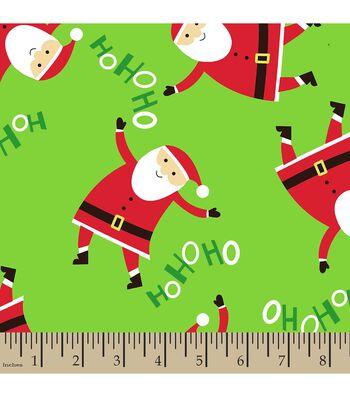 Christmas Print Fabric-Ho Ho Ho Santa