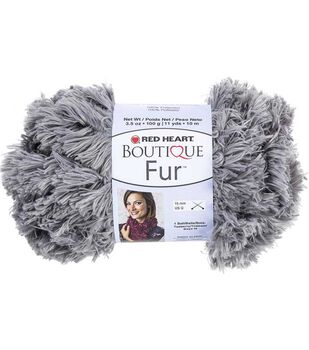 Red Heart Boutique Fur Yarn 11 yds