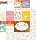 Summer Bucket List Double-Sided Cardstock 12\u0022X12\u0022-Confetti