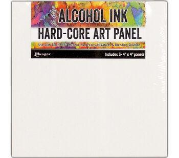 Tim Holtz Alcohol Ink Hard Core Art Panel 4''X4'' 3/Pkg