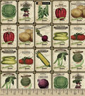 Novelty Cotton Fabric -Antique Seed