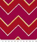 Robert Allen @ Home Lightweight Decor Fabric 55\u0022-Chevron Poppy