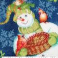 Anti-Pill Plush Fleece Fabric-Noel Snowman