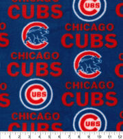 Chicago Cubs Fleece Fabric -Tossed, , hi-res