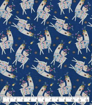 Snuggle Flannel Fabric-Llama Party