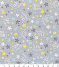 Nursery Flannel Fabric -A Star Is Born Grey