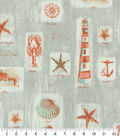 Waverly Upholstery Fabric 13x13\u0022 Swatch-Beach Comber Sandcastle
