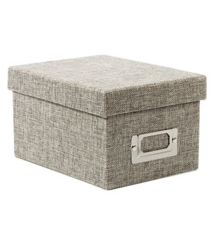 DCWV Mini Box: Gray Burlap
