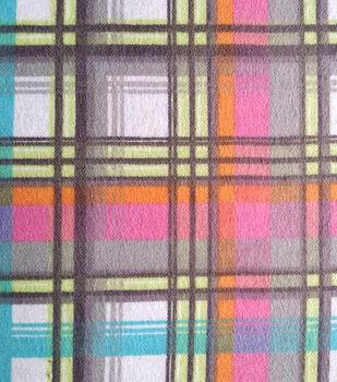 Snuggle Flannel Fabric -Pastel Plaid