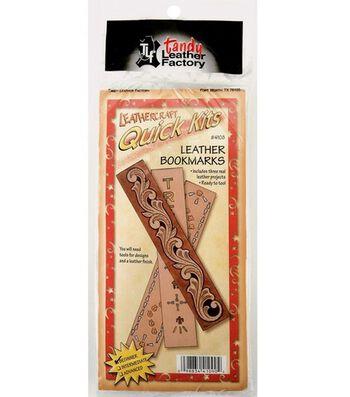Leather Factory Leathercraft Quick Kits-Bookmarks 3PK