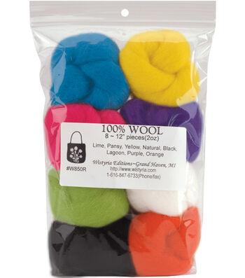 Wistyria Editions Roving Felting Wool