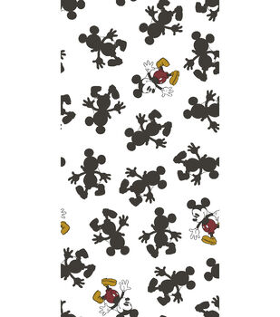"Disney Mickey Mouse Flannel Fabric 42""-Pop Line"