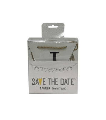 "Save the Date 70"" Banner-Just Married"