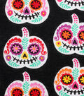Halloween Cotton Fabric 43\u0022-Sugar Skull Pumpkins