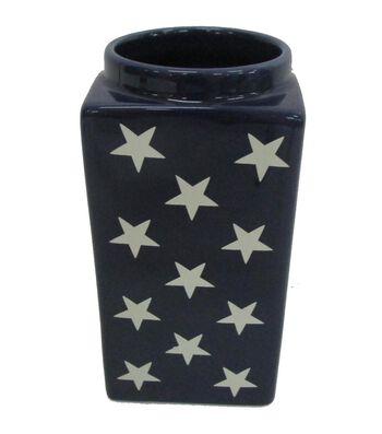 Americana Patriotic Vase-Stars on Blue