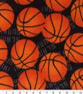 Anti-Pill Plush Fleece Fabric-Slam Dunk Basketball