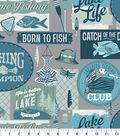 Snuggle Flannel Fabric-Gone Fishing
