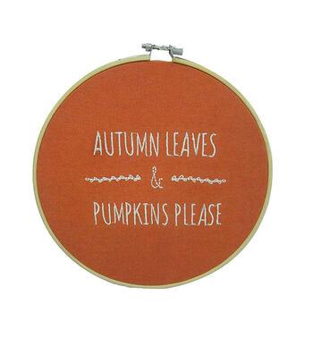 Simply Autumn Hoop-Autumn Leaves & Pumpkins Please
