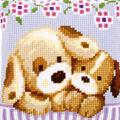 Vervaco 16\u0027\u0027x16\u0027\u0027 Cushion Cross Stitch Kit-Cuddling Dogs