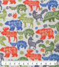 Anti-Pill Plush Fleece Fabric-Explore Inspiring Animals
