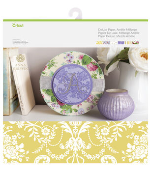 Cricut Anna Griffin 12 Pack 12''x12'' Deluxe Papers-Amelie Melange