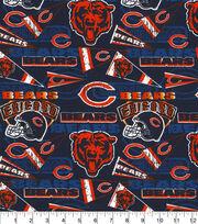 Chicago Bears Cotton Fabric-Retro, , hi-res