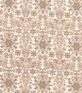 Christmas Cotton Fabric-Cream Intricate Snowflakes
