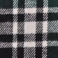 Plaiditudes Brushed Cotton Fabric-Green, Black & White Tricolor Plaid