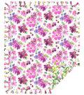 Now Sew Fleece Throw-Watercolor Floral