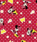 Disney Minnie Mouse Flannel Fabric 42\u0022-Dots