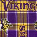 Minnesota Vikings Fleece Fabric -Plaids
