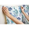 York Wallcoverings Wallpaper-Blue Perennial Blooms