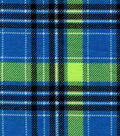 Snuggle Flannel Fabric 42\u0027\u0027-Blue & Lime Plaid