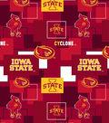 Iowa State University Cyclones Cotton Fabric 43\u0027\u0027-Modern Block