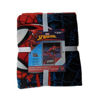 Spiderman No Sew Fleece Throw-Webslinger