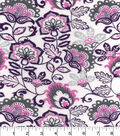 Snuggle Flannel Fabric 42\u0022-Orchid Floral