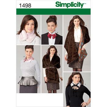 Simplicity Pattern 1498A Xs-S-M-L-X-Misses Tops Vests