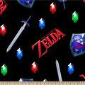 Zelda Fleece Fabric-Sword and Shield
