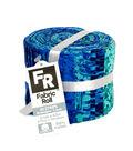 Jelly Roll Cotton Fabric Pack 2.5\u0027\u0027x42\u0027\u0027-Blue, Turquoise & Metallic