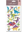 EK Success Sticko Metallic Stickers-Dinosaur