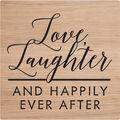 American Crafts 2\u0027\u0027x2\u0027\u0027 Rubber Stamp-Love, Laughter & Happily Ever After