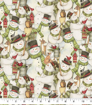 Christmas Cotton Fabric-Packed Snowmen