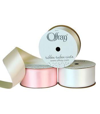"Offray 1.5""x21' Single Faced Satin Ribbon"