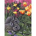Royal Brush Junior Small Paint By Number Kit Spring Bunnies