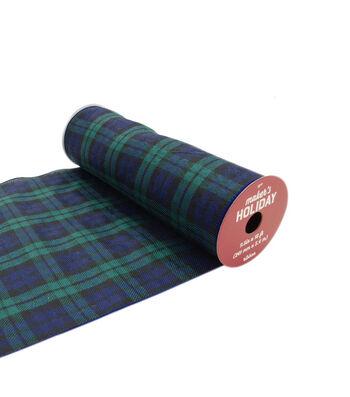 Maker's Holiday Buffalo Check Ribbon 9.5''x18'- Blackwatch Plaid