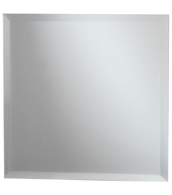 Darice 8'' Square Glass Mirror with Beveled Edge