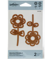 Spellbinders 2 pk Die D-Lites Etched Dies-Sketched Blooms 2, , hi-res